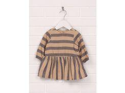 Платье H&M 92см коричневый полоска 96350438
