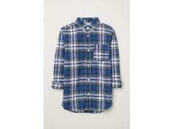 Рубашка H&M 152см сине белая клетка 96593888