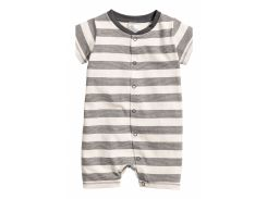 Пижама H&M 56см молочно серый полоска 3863996