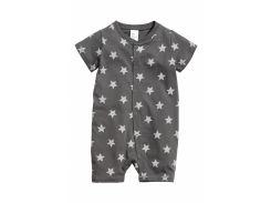 Пижама H&M 62см серый звезды 3863996