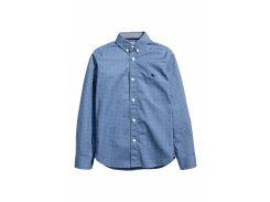 Рубашка H&M 152см синий горох 95511636