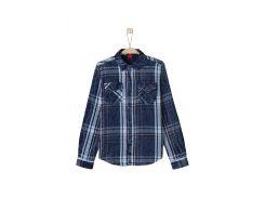 Рубашка s.Oliver 164см бело синий клетка 61608213260