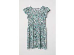Платье H&M 98 104см белый цветы 5652017