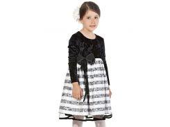 Платье Marions 104см черно белый 800992122