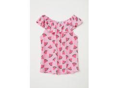 Блуза H&M 110 116см светло розовый 5837867