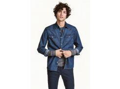 Рубашка H&M M синий 4109924