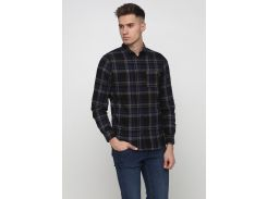 Рубашка H&M S черный клетка 4669876