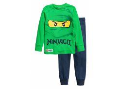 Пижама (лонгслив, брюки) H&M 104см зеленый Lego 4855366