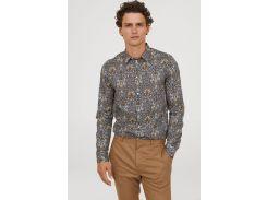 Рубашка H&M S комбинированный 6996718
