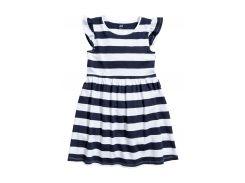 Платье H&M 92см бело темно синяя полоска 4786756