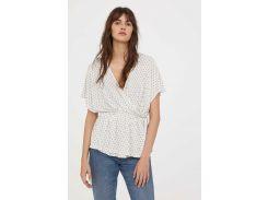 Блуза H&M XS белый 6392737