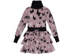 Платье Marions 152см серо розовый 7456