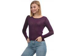 Лонгслив H&M M фиолетовый 3954954