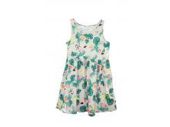 Платье H&M 92см бежево зеленый 4340365