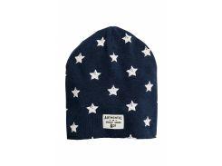 Шапка H&M 62 68см (43) темно синий звезды 5745387