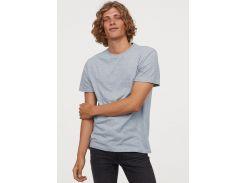 Футболка H&M S голубой меланж 2296564