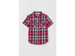 Рубашка H&M 92см красный полоска 7363509