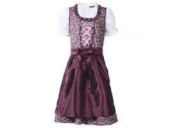 Карнавальный костюм Крестьянка Pepperts 128см бордовый 275814