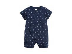 Пижама H&M 56см темно синий якоря 93483515