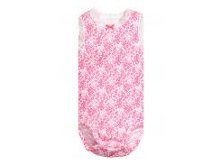 Боди H&M 68см розовый цветы 4950996