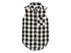 Блуза H&M 134см черно бело серый 95057186