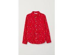 Рубашка H&M 128см красный 6776888