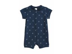 Пижама H&M 92см темно синий якоря 3863997