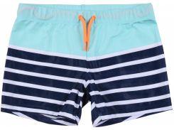 Шорты для плаванья H&M 134 140см бело синий полоска 4532727