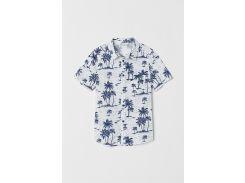 Рубашка H&M 164см бело синий 7471339
