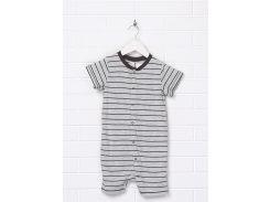 Пижама H&M 86см серый полоска 2172075