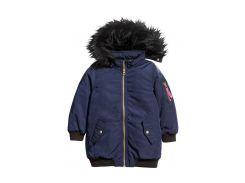 Куртка H&M 110см темно синий 75135786