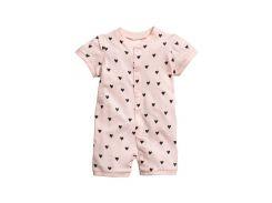Пижама H&M 92см розовый сердечки 6436789