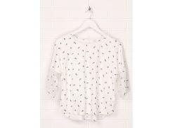 Блуза H&M 146см молочный розы 5197146