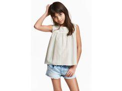Блуза H&M 158см серый полоска 4736065