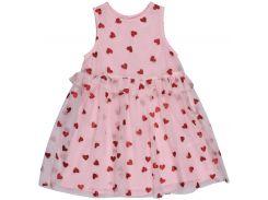 Платье H&M 86см розовый сердечки 6878589