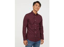 Рубашка H&M M бордовый 5016168