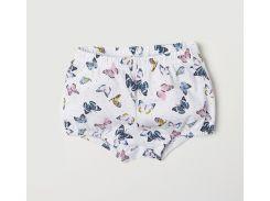 Шорты H&M 80см белый бабочки 6591648