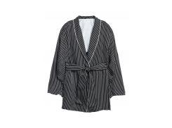 Жакет H&M 38 черно белый полоска 5927026