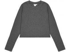 Джемпер H&M S серый меланж 4121314