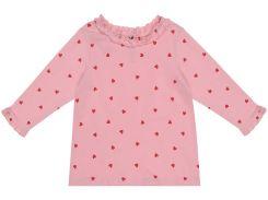 Лонгслив H&M 68см розовый сердечки 6980139