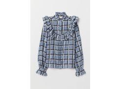 Блуза H&M 40 бледно голубой 7223619