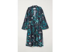 Кардиган H&M S темно серый цветы 6323617