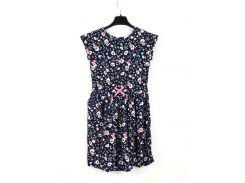 Платье H&M 140см темно синий цветы 4851016