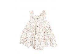 Платье боди H&M 86см белый цветы 4607405