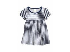 Платье H&M 74см темно синий полоска 2544575
