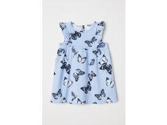 Платье H&M 92см синий бабочки 6429298