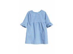 Платье H&M 80см сине белый клетка 6006957