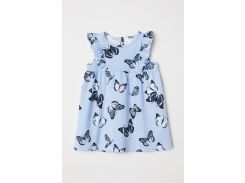 Платье H&M 68см синий бабочки 6429298