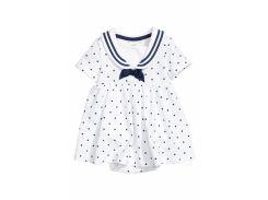 Платье боди H&M 56см белый горох 4682285