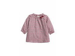 Платье H&M 50см бордово белая клетка 95359296